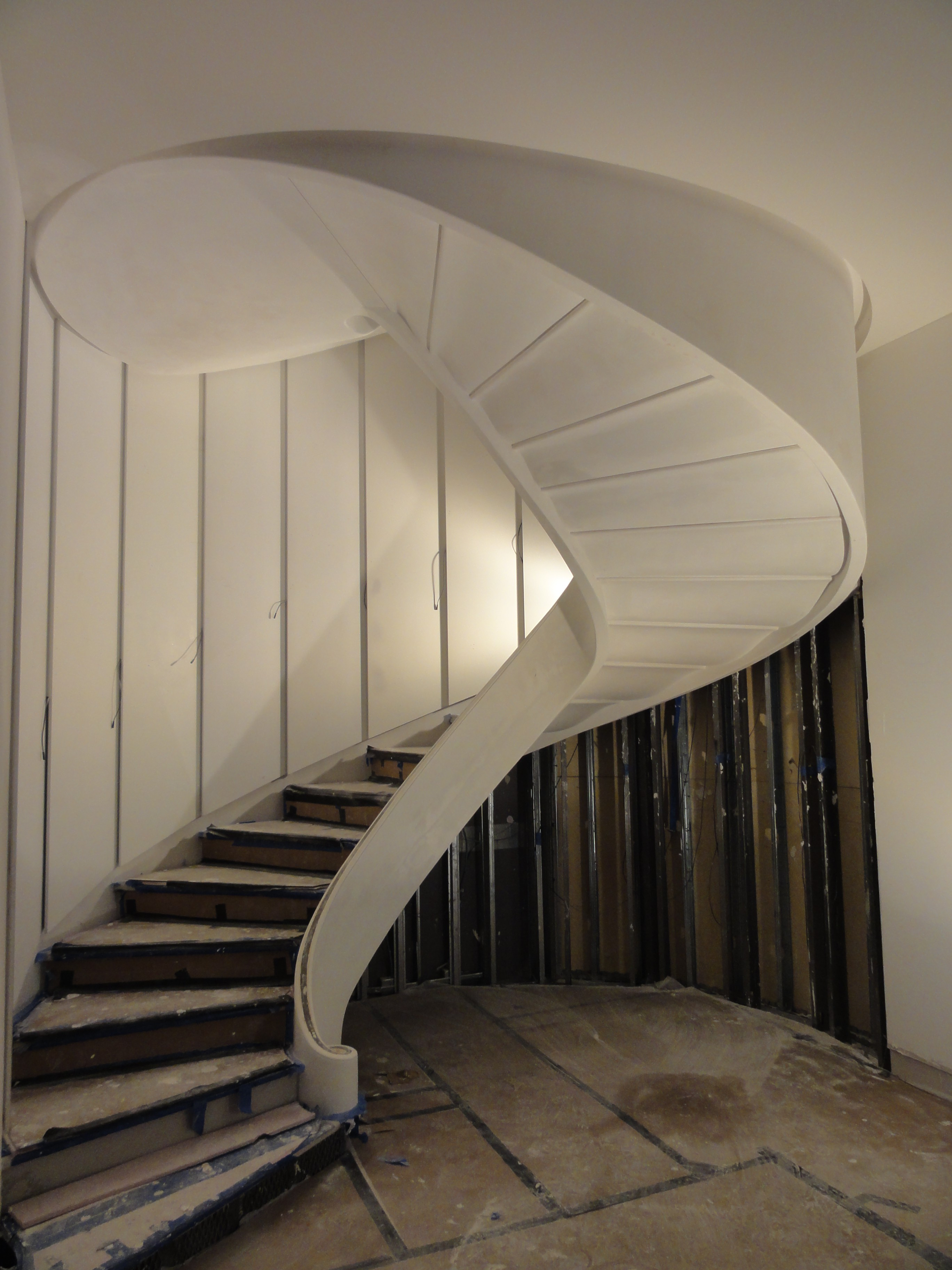 Staircases Encapsulated In Plaster
